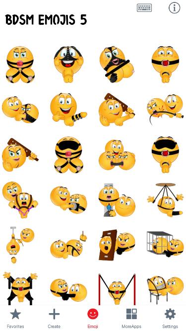 BDSM 5 Emoji Stickers