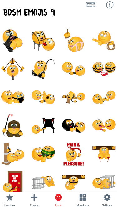 BDSM 4 Emoji Stickers