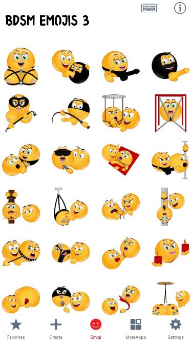 BDSM 3 Emoji Stickers