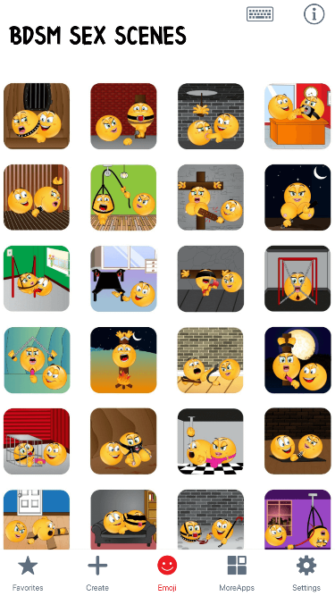 BDSM Sex Scenes Emoji Stickers