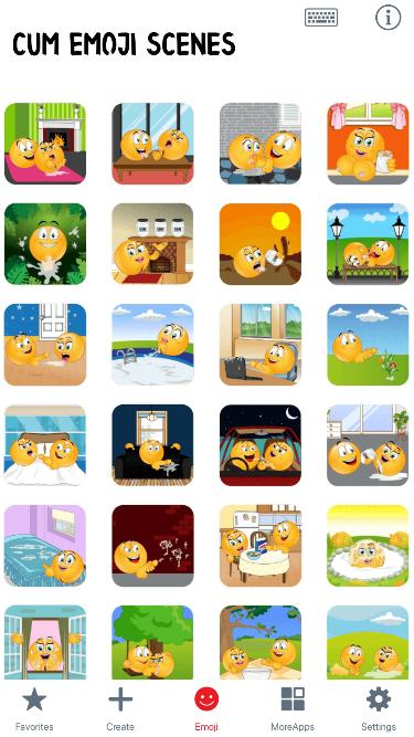 Cum Scenes Emoji Stickers