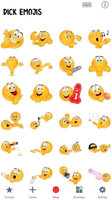 Dick Emoji Stickers