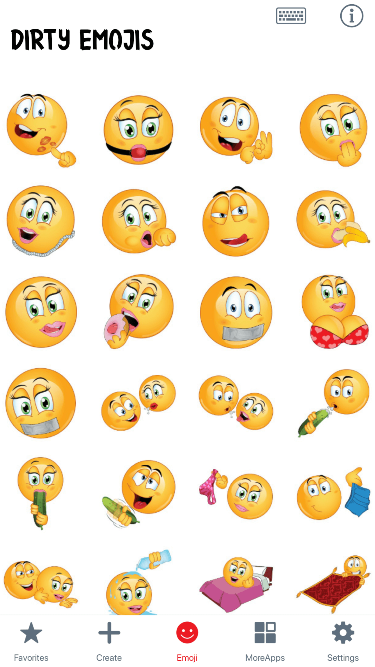 Dirty Emoji Stickers