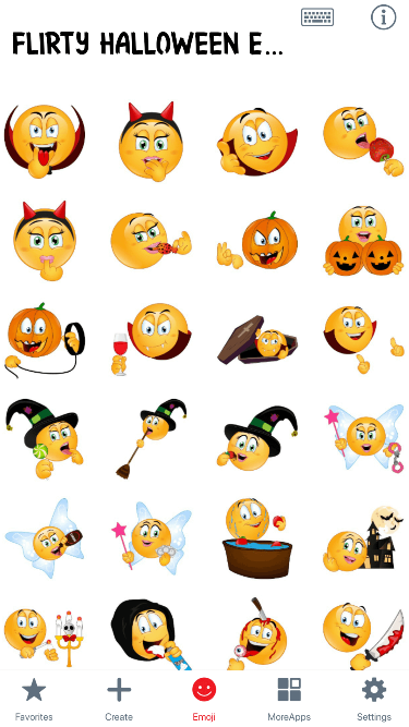 Flirty Halloween Emoji Stickers