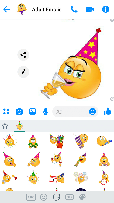 Flirty NewYears Emoji Keyboard