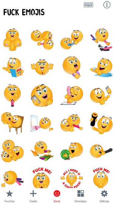 Fuck Emoji Stickers