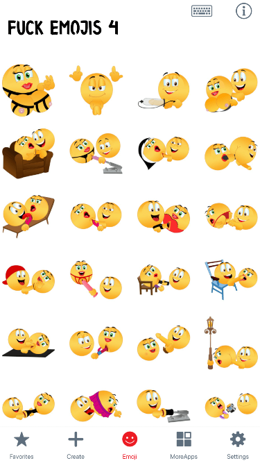 Fuck 4 Emoji Stickers