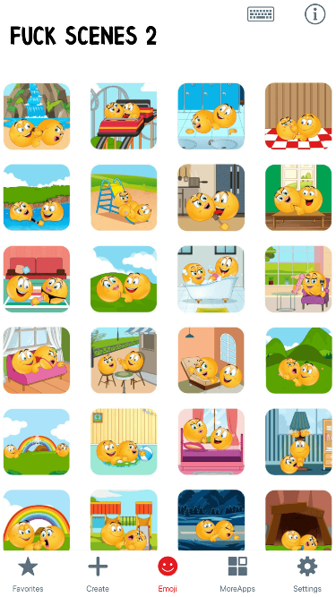 Fuck Scenes 2 Emoji Stickers