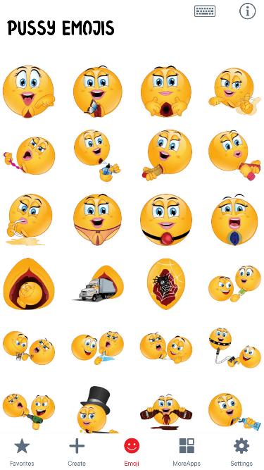 Pussy Emoji Stickers