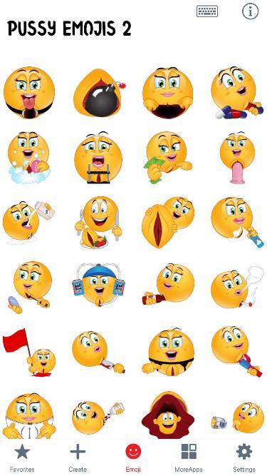 Pussy 2 Emoji Stickers
