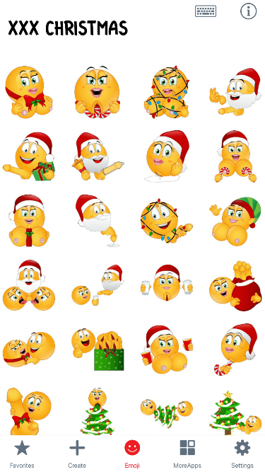XXX Christmas 2 Emoji Stickers