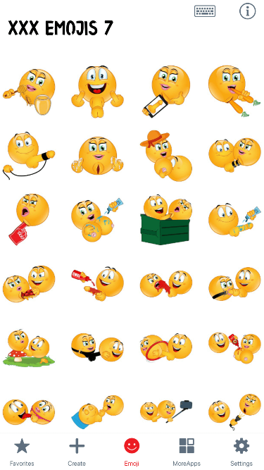 XXX 7 Emoji Stickers