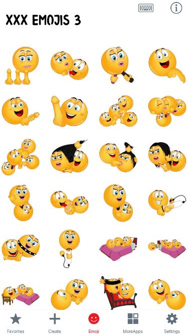 XXX 3 Emoji Stickers