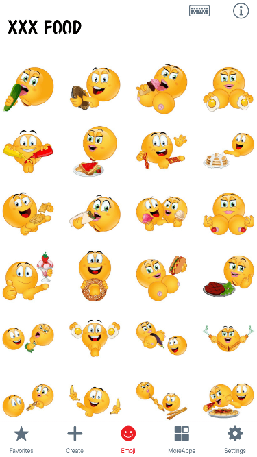 XXX Food Emoji Stickers