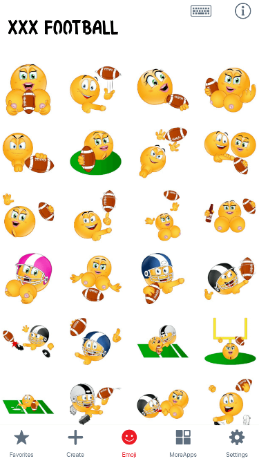 XXX Football Emoji Stickers