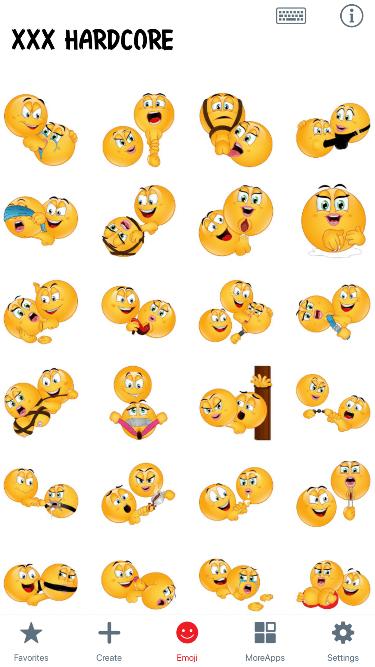 XXX Hardcore Emoji Stickers