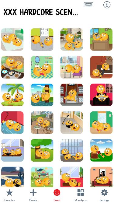 XXX Hardcore Scenes Emoji Stickers