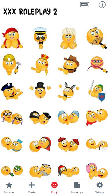 XXX Roleplay 2 Emoji Stickers