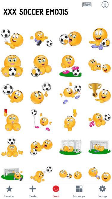 XXX Soccer Emoji Stickers