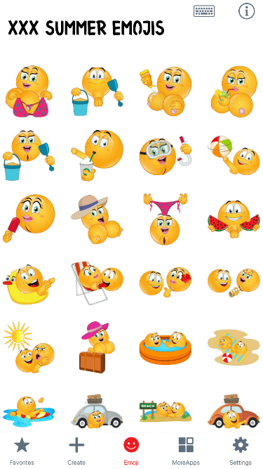 XXX Summer Emoji Stickers