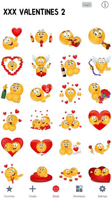 XXX Valentines 2 Emoji Stickers