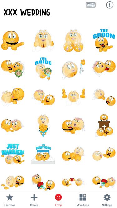 XXX Wedding Emoji Stickers
